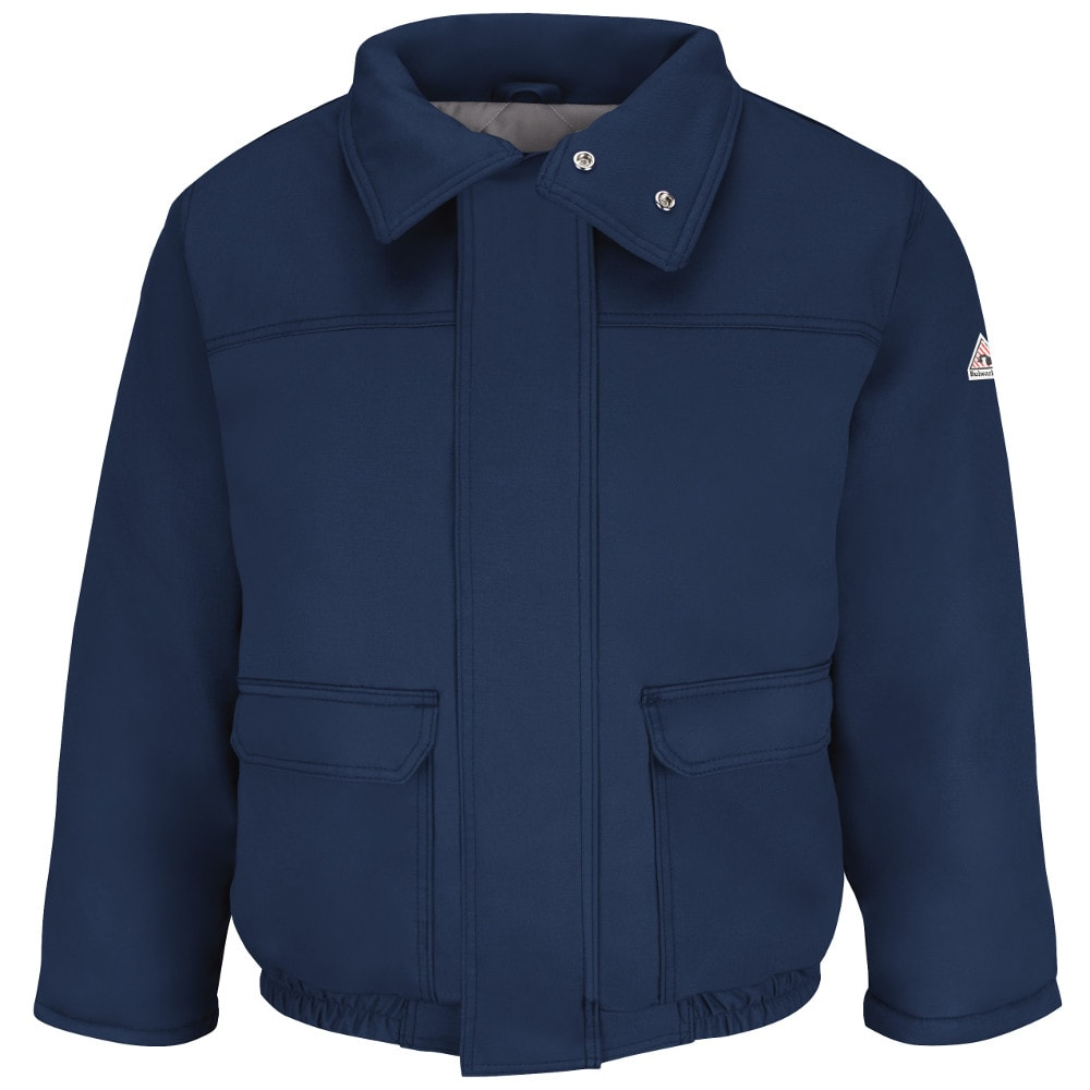 Bulwark Fire Resistant Navy Insulated Bomber Jacket fr,fr jacket,fr bomber,bulwark fr,bulwark frc jacket,hrc,hrc rated clothing,arc rated,arc rated jacket,oilfield jacket,work jacket,jacket,excel fr,flame retardant bomber,fr bomber jacket,insulated fr,insulated fr jacket,insulated frc,winter fr jacket,jlr8,jlr8nv,bulwark jlr8nv,bulwark frjlr8nv,water repellant fr jacket,water resistant fr jacket,hrc 4,hrc 4 jacket,nfpa 2112 compliant,large fr jacket,flame resistant bulwark jacket,fire retardant bulwark jacket,fr safety jacket,protective jacket,oilfield ppe,navy fr jacket,navy bulwark jacket,bulwark work jacket,heavy duty fr jacket,cheap fr jacket,cheap bulwark,westex ultrasoft flame-resistant,comfortouch fr,safety jacket,fr clothing, flame resistant work jacket,bulwark flame retardant jacket