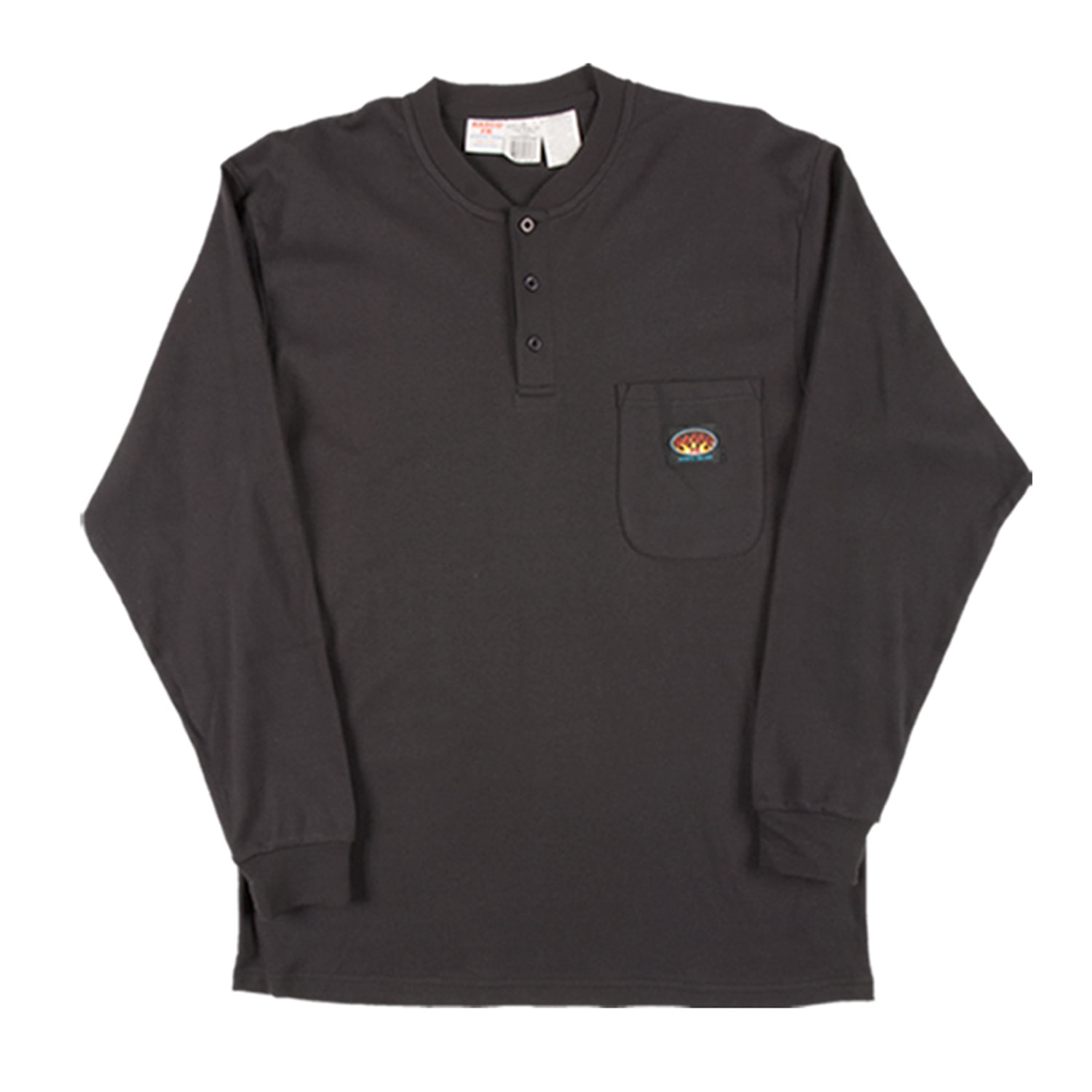 Rasco Fire Retardant Black Henley T-Shirt
