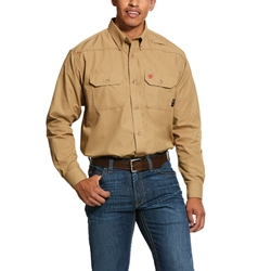 Ariat FR Khaki Featherlight Work Shirt