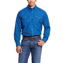Ariat FR Royal Blue Featherlight Work Shirt