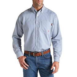 Ariat Flame Resistant Bold Blue Stripe Work Shirt
