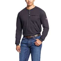 Ariat Flame Resistant Black Air Henley Top
