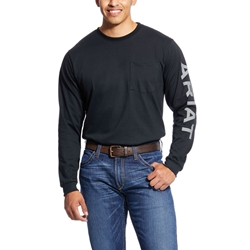 Ariat Flame Resistant Black Pocketed Logo T-Shirt