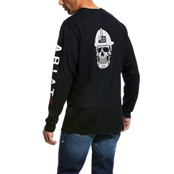 Ariat Flame Resistant Black Roughneck Skull T-Shirt