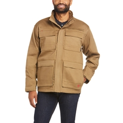 Ariat Flame Resistant Canvas Stretch Jacket | Field Khaki