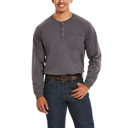 Ariat Flame Resistant Charcoal Heather Air Henley Top