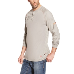 Ariat Flame Resistant Silver Fox Henley