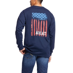 Ariat Flame Resistant Navy Americana Graphic T-Shirt