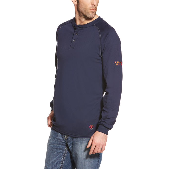 fbe4ad62 Ariat Flame Resistant Navy Henley