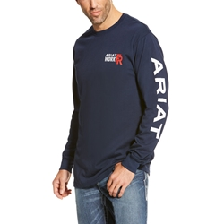 Ariat Flame Resistant Navy Logo T-Shirt