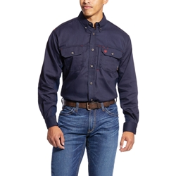Ariat Flame Resistant Navy Solid Vent Work Shirt