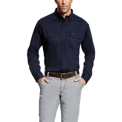 Ariat Flame Resistant Navy Solid Work Shirt
