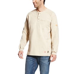 Ariat Flame Resistant Sand Heather Air Henley Top