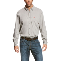 Ariat Flame Resistant Silver AC Work Shirt