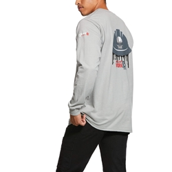 Ariat Flame Resistant Silver Fox Americana Oil Graphic T-Shirt
