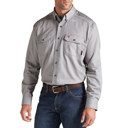 Ariat Flame Resistant Silver Fox Solid Work Shirt