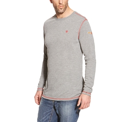Ariat Light Grey Polartec Base Layer
