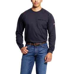 Ariat Mens Flame Resistant Black Air Crew T-Shirt