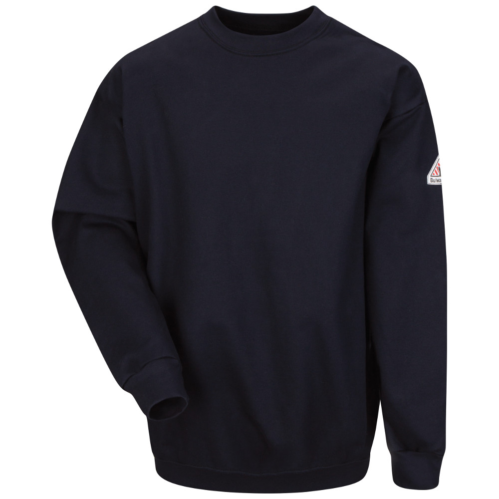 Bulwark Navy FR Brushed Fleece Sweatshirt