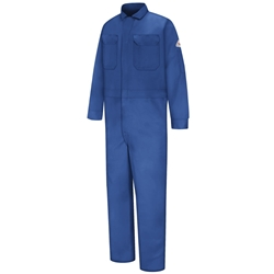 Bulwark FR Deluxe 100% Cotton Contractor Coverall | Royal Blue