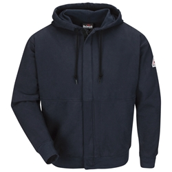 Bulwark Navy Flame Resistant Zip-Front Hooded Sweatshirt