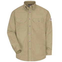 Bulwark Flame Resistant 7 Ounce Dress Uniform Shirt | Khaki