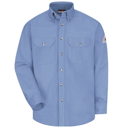 Bulwark Flame Resistant 7 Ounce Dress Uniform Shirt | Light Blue
