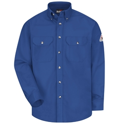 Bulwark Flame Resistant 7 Ounce Dress Uniform Shirt | Royal Blue