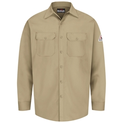 Bulwark Flame Resistant Button-Front Work Shirt | Khaki