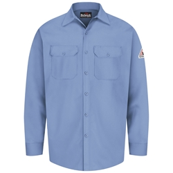 Bulwark Flame Resistant Button-Front Work Shirt | Light Blue