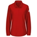 Bulwark Flame Resistant IQ Series Comfort Knit Women's Polo W/4 Button Placket | Red - QT15RD
