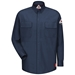 Bulwark Flame Resistant IQ Series Comfort Woven Patch Pocket Shirt | Dark Blue - QS32DB