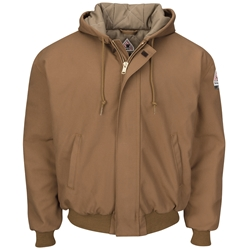 Bulwark Flame Resistant Insulated Hooded Jacket | Brown Duck
