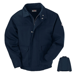 Bulwark Flame Resistant Navy Lined Bomber Jacket