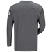 Bulwark Flame Resistant iQ Series Long Sleeve Henley | Charcoal - QT20CH