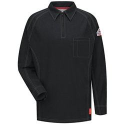 Bulwark Flame Resistant iQ Series Long Sleeve Polo | Black