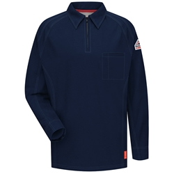Bulwark Flame Resistant iQ Series Long Sleeve Polo | Dark Blue
