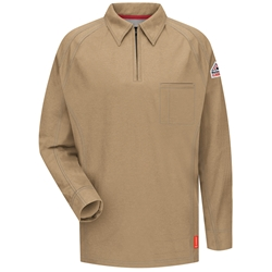 Bulwark Flame Resistant iQ Series Long Sleeve Polo | Khaki