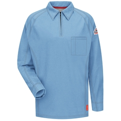 Bulwark Flame Resistant iQ Series Long Sleeve Polo | Light Blue