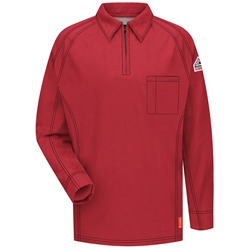 Bulwark Flame Resistant iQ Series Long Sleeve Polo | Red