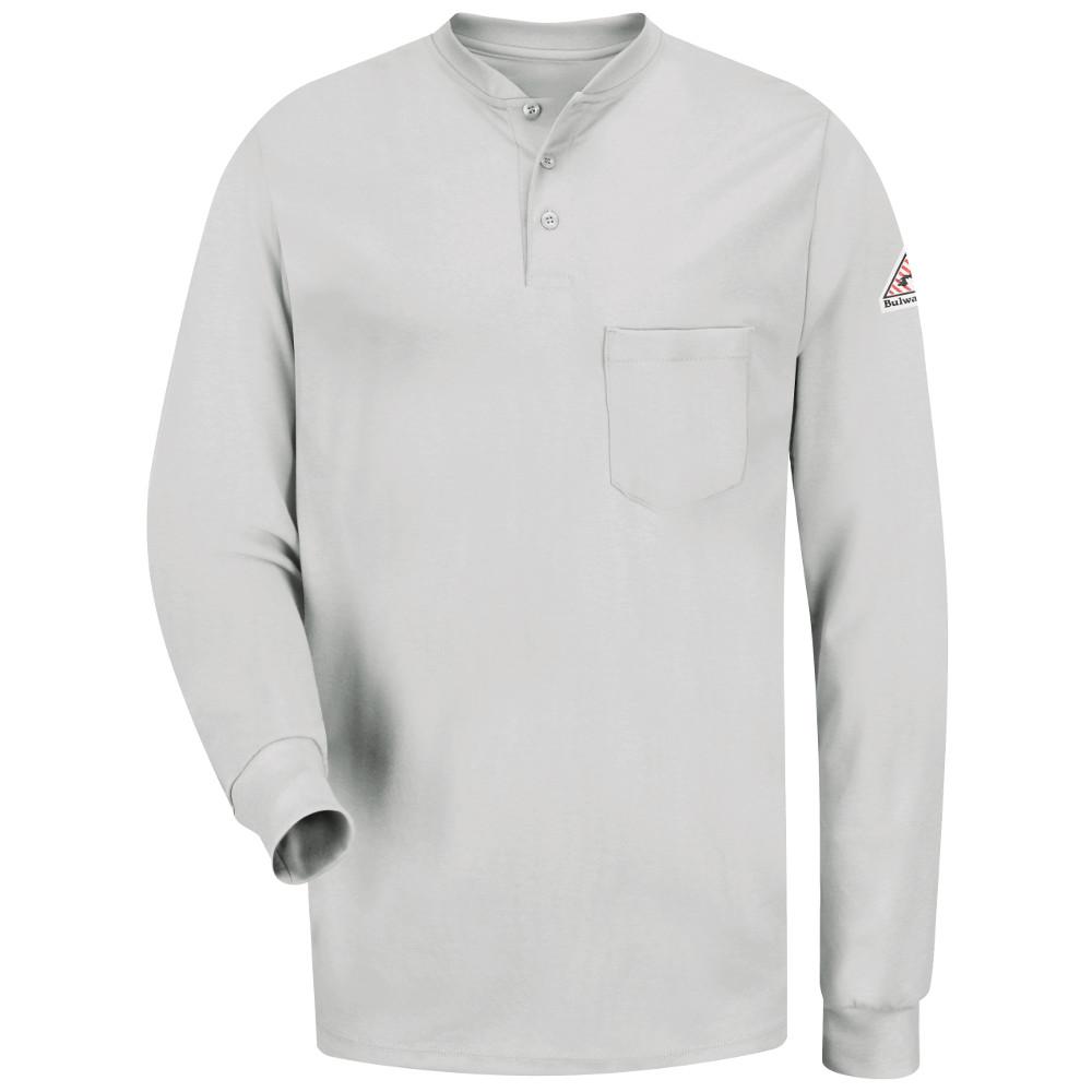 1963027184bc ... Bulwark Long Sleeve Fire Retardant Tagless Henley Shirt ...