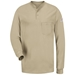 Bulwark Long Sleeve Fire Retardant Tagless Henley Shirt
