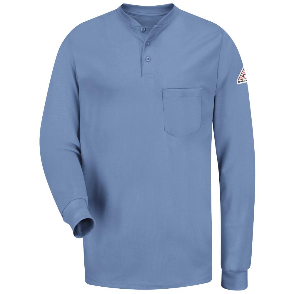 Cheap Fire Retardant Clothing >> Bulwark Long Sleeve Flame Resistant Tagless Henley Shirt