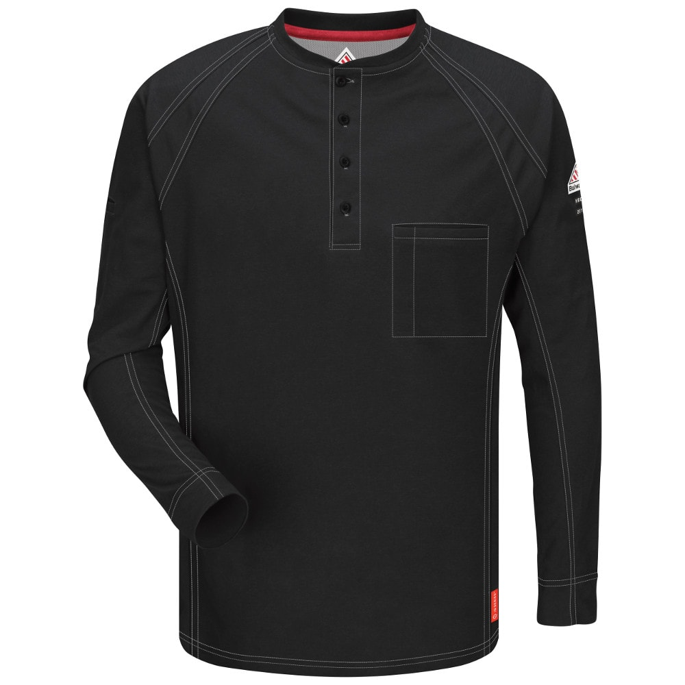 fc375ccd675 ... Bulwark iQ Series Flame Resistant Long Sleeve Henley ...