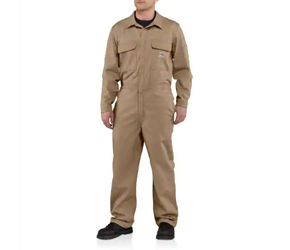 Carhartt FR Traditional Twill Coveralls | Khaki