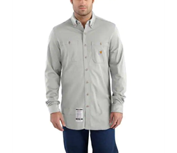 Carhartt Flame Resistant Force Cotton Hybrid Shirt | Light Gray