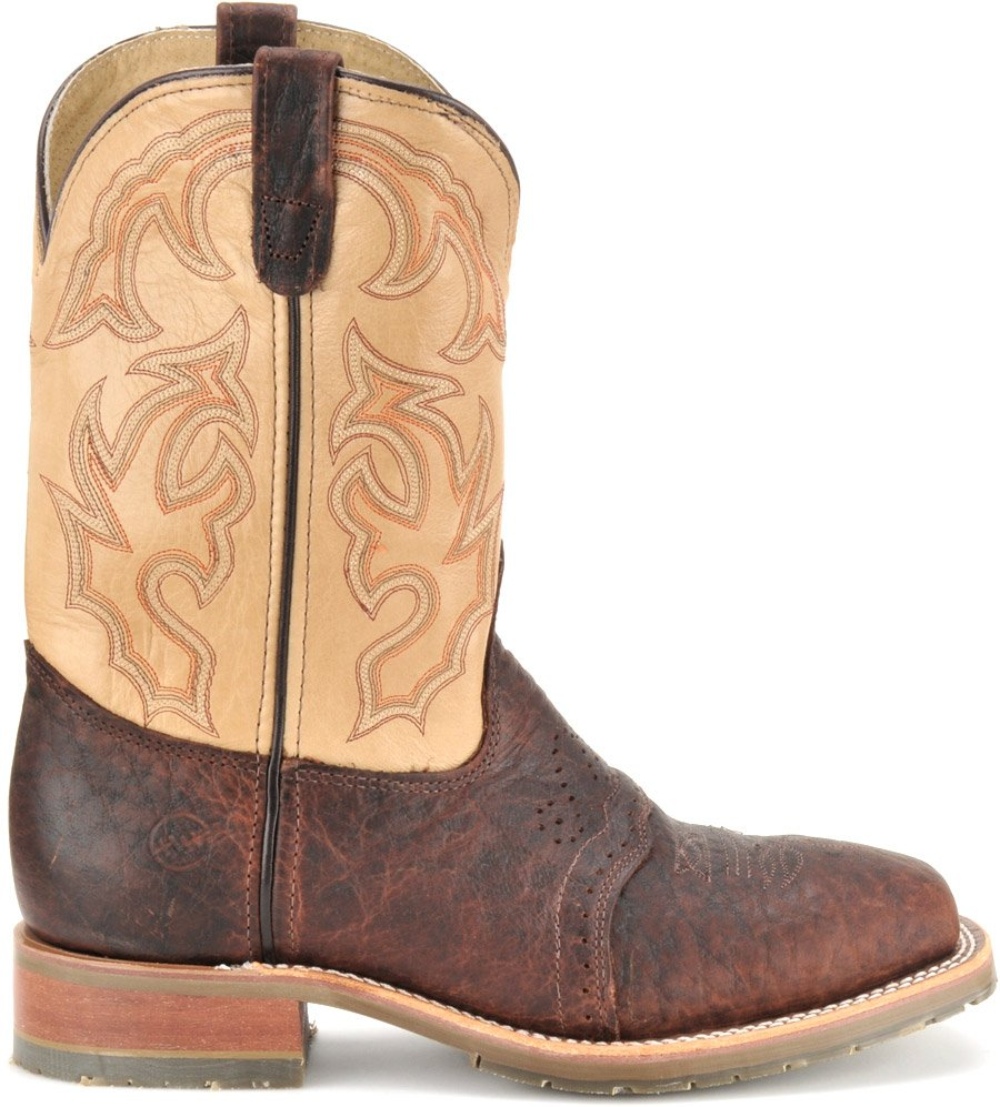 9410780e558 Double H Men's Square Toe Bison Roper - Steel Toe