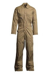Lapco 7oz Flame Resistant Khaki Deluxe Coverall