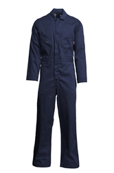 Lapco 7oz Flame Resistant Navy Deluxe Contractor Coverall