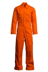 Lapco 7oz Flame Resistant Orange Deluxe  Coverall